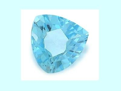 Light Sky Blue Topaz 10x10x10mm 3.02ct  Trillion Cut Loose Gemstone