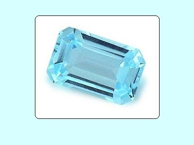 Large Swiss Blue Topaz 14x10mm 7.12ct Octagon Emerald or Radiant Cut Loose Gemstone