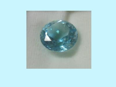 Barely Blue Topaz 9mm 3ct Round Cut Loose Gemstone
