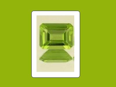 Peridot 9x7mm 3ct Emerald, Octagon, or Radiant Cut Loose Gemstones