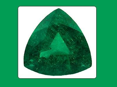Emerald Unique Graining 10x10x10mm Trillion Cut Loose Gemstone