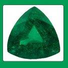 Emerald 9x9x9mm Trillion Cut Loose Gemstone
