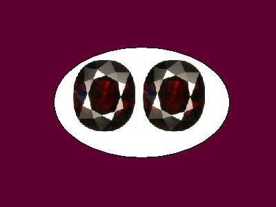 Garnet Almadite Pair 7.5x6mm Oval Loose Gemstone