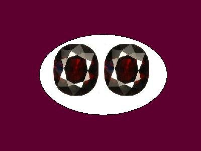 Garnet Almadite Pair 8x6mm Oval Loose Gemstones