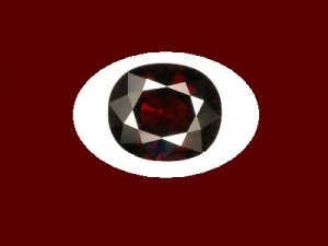 Garnet 9x7mm 3.5mm depth Oval Cut Loose Gemstone