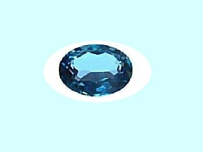 Swiss Blue Topaz 9x7mm Oval Cut Loose Gemstone