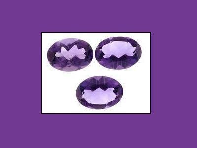 Trio Set of Amethyst 6x4mm Oval Cut Loose Gemstone