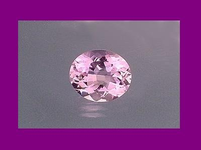 Almost White Amethyst 14.5x12mm Oval Cut Loose Gemstone.