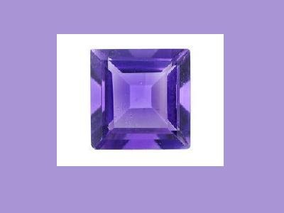 Amethyst 8x8mm Princess Square Cut Darker Loose Gemstone