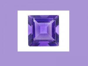 Pretty Princess Deep Cut Amethyst 8x8mm Loose Gemstone