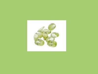 Set of 10 Peridot 5x3mm Oval Cut Loose Gemstones