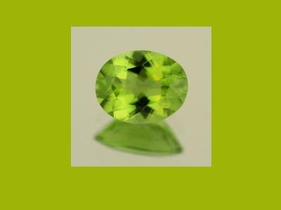 Peridot  0.85ct 8x6mm Oval Cut Loose Gemstone