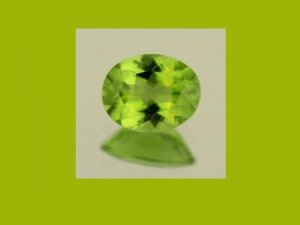 Peridot  0.85ct 8x6mm Oval Cut Loose Gemstone
