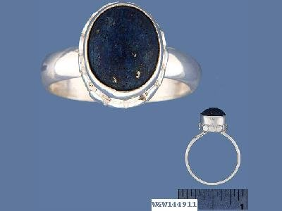 NEW Oval Lapis Lazuli Sterling Silver Ring size 7.75