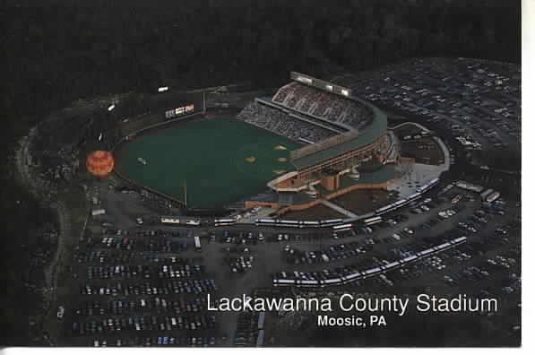 Lackawanna County Stadium Postcard Moosic PA
