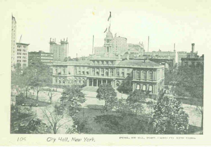 73600 NY New York Postcard City Hall Vintage