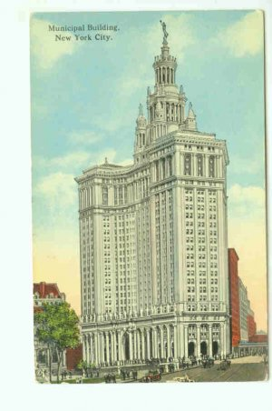 73601 NY New York Postcard Municipal Building 1917