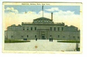 73603 Aquarium Battery Park NY New York City Postcard
