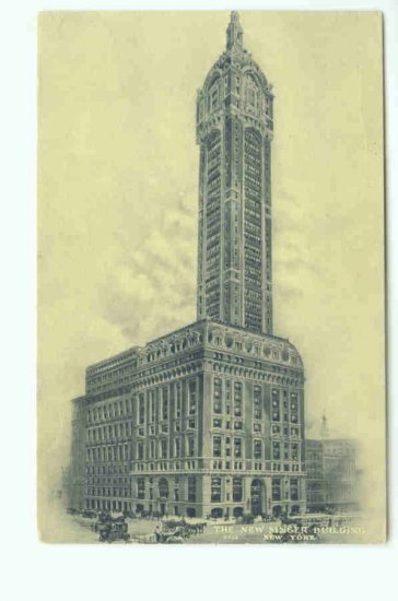 73609 NY New York City New Singer Building  Postcard