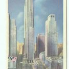 NY New York City Rockefeller Center Art Deco Postcard
