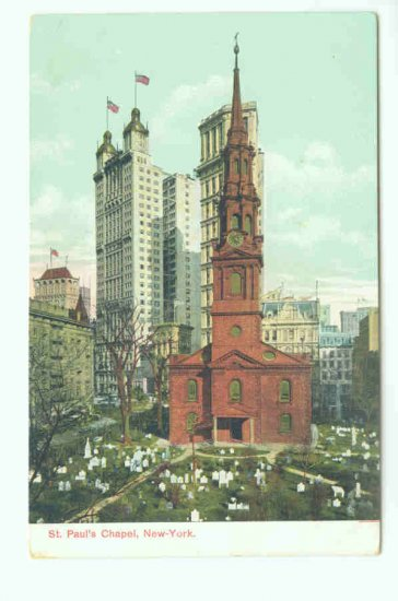 73620 NY New York City St Pauls Chapel Postcard