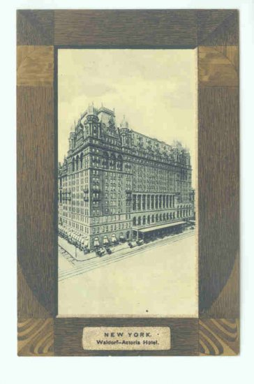 73626 NY New York City Vintage Postcard Waldorf Astoria Hotel