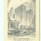 73628 NY New York City Vintage Postcard Commodore Hotel