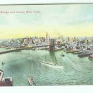 73633 NY New York City Vintage Postcard Brooklyn Bridge 1908