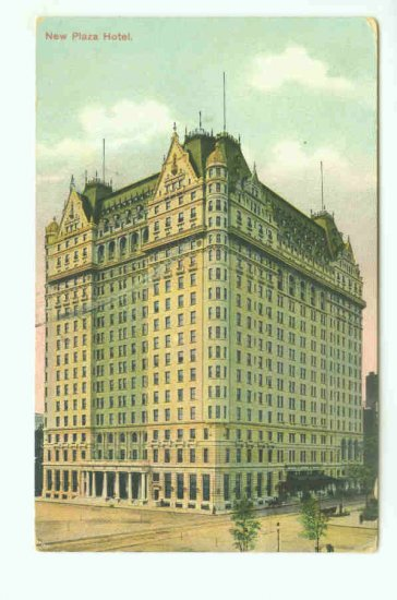 73634 NY New York City Vintage Postcard New Plaza Hotel