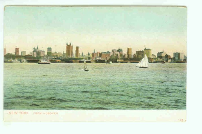73635 NY New York City Vintage Postcard From Hoboken NJ