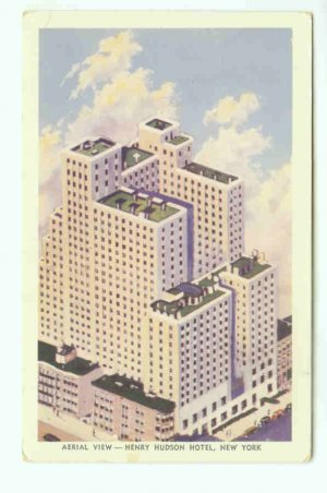 73646 NY New York City Vintage Postcard Henry Hudson Hotel