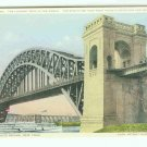 73648 NY New York City Vintage Postcard Hell Gate Bridge