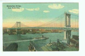 73649 NY New York City Vintage Postcard Manhattan Bridge