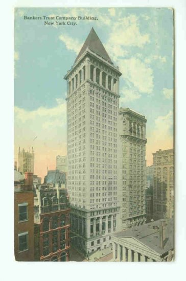 73656 NY New York City Vintage Postcard Bankers Trust Company Bank