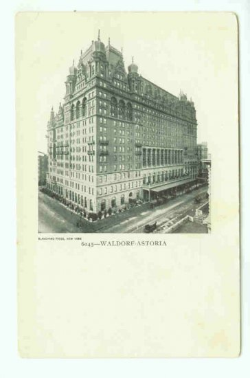 73658 NY New York City Vintage Postcard Waldorf Astoria Hotel