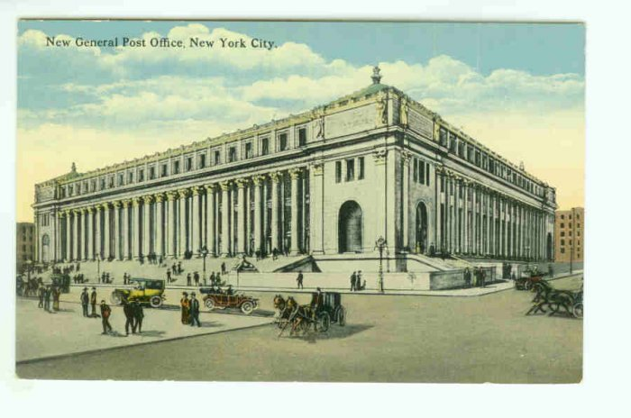 73662 NY New York City Vintage Postcard New General Post Office circa 1910