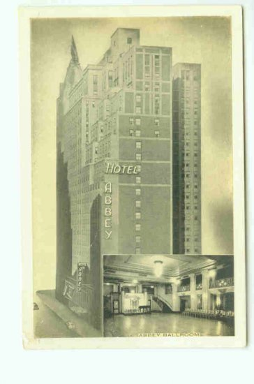 73666 NY New York City Vintage Postcard Hotel Abbey Ballroom