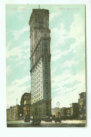 73761 NY New York City Vintage Postcard Times Building 1910 era