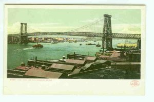 73675 NY New York City Vintage Postcard Williamsburg Bridge 1904