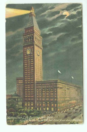 73685 NY New York City Vintage Postcard Metropolitan Life Insurance Building