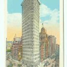 73689 NY New York City Vintage Postcard Flat Iron Building Fifth Avenue