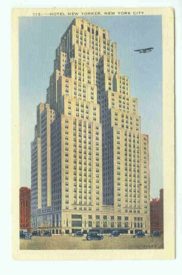 73694 NY New York City Vintage Postcard Hotel New Yorker