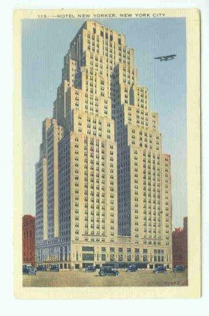 73694 NY New York City Vintage Postcard Hotel New Yorker