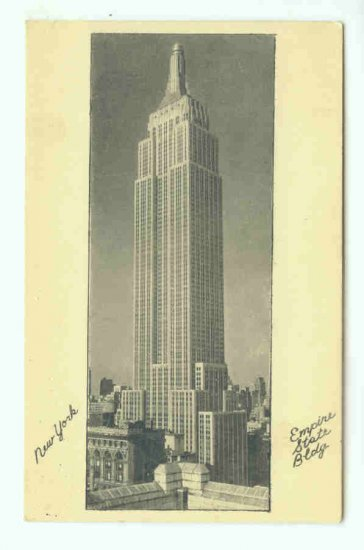 73695 NY New York City Vintage Postcard Empire State Building