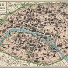 Vintage Paris Poster  Map Cavallini & Co. 20 x 28 Wrap Paper