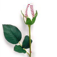"SPORTS ROSES - ""BASEBALL ROSE"" Made from an actual Baseball!"