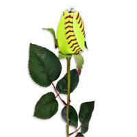 """SPORTS ROSES - """"SOFTBALL ROSE"""" Made from an actual Softball!"""