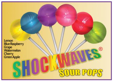 ShockWave Sour Lollipops