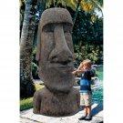 Easter Island Moai Monolith Statue Garden Polynesian Giant Sculpture
