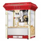 Red Antique Style Popcorn Popper Machine 8 Ounce 6045-Princeton-Top NEW